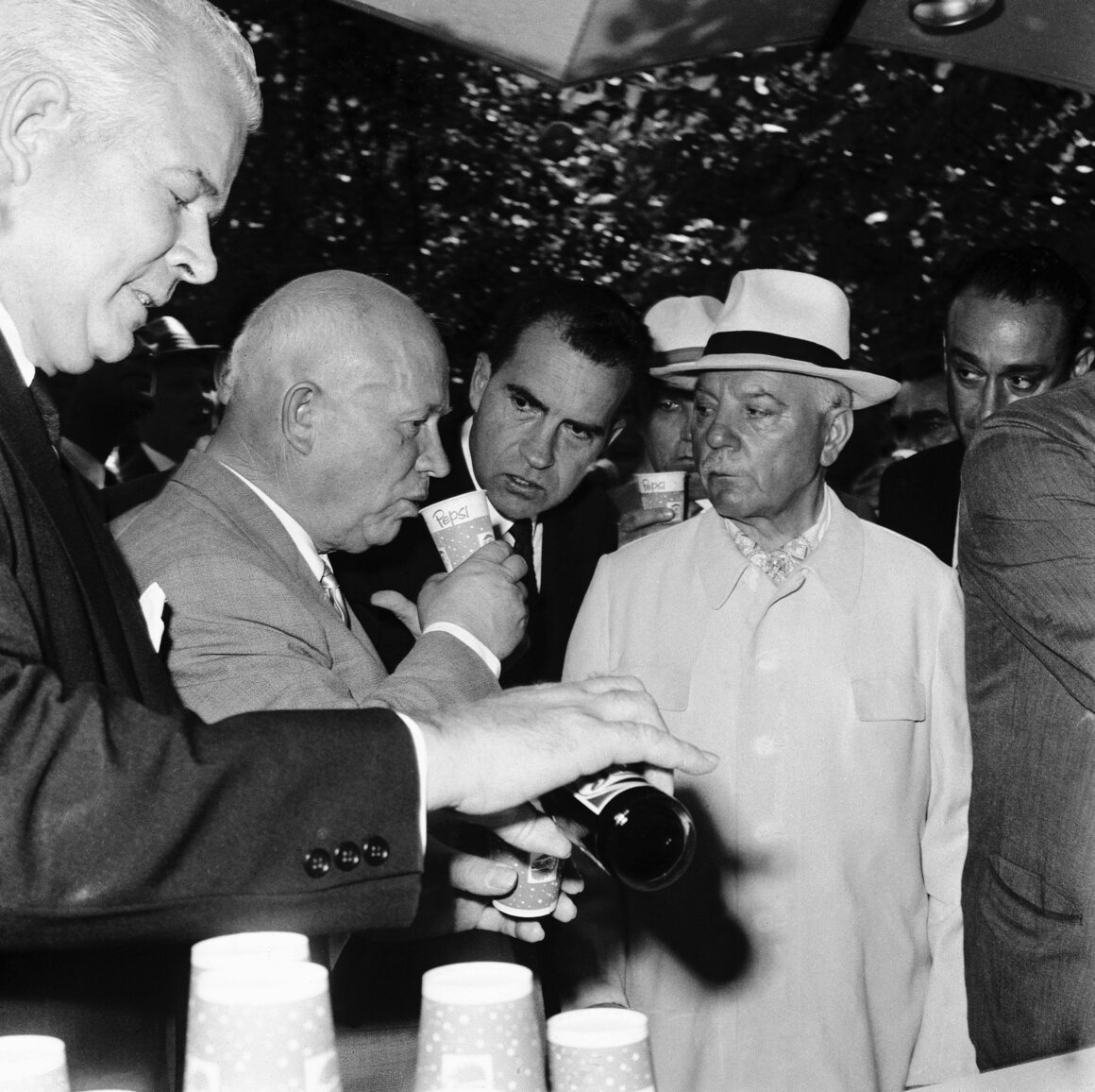 khrushchev drinking from a pepsi cup